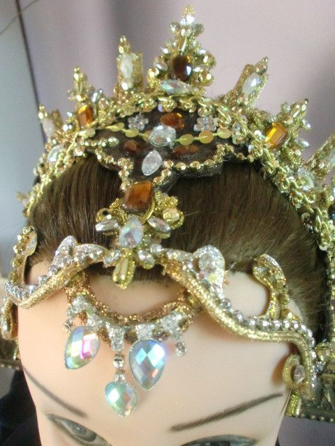 """Princess Aurora"" jewelled ballet headdress"