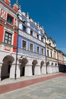 Vista de la belleza polaca renaaissance Antiguo Zamość Polonia