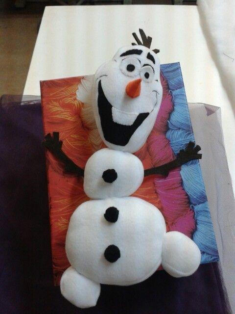 Olaf frozen.