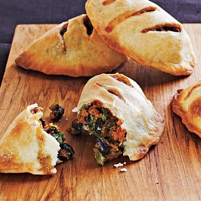 Sweet Potato and Black Bean Empanadas: freeze perfectly, high protein, complex carbs.