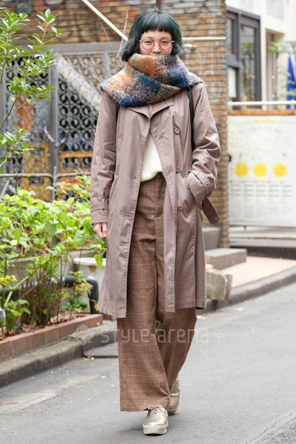 Hisan | iseear used B.L.U.E g.u.  JINS | 2nd week  Jan. 2016 | Harajuku | Tokyo Street Style | TOKYO STREET FASHION NEWS | style-arena.jp