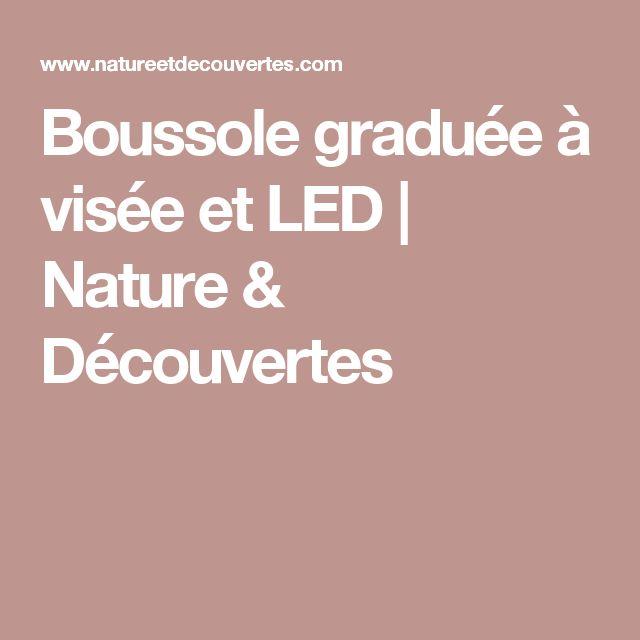 Boussole graduée à visée et LED | Nature & Découvertes