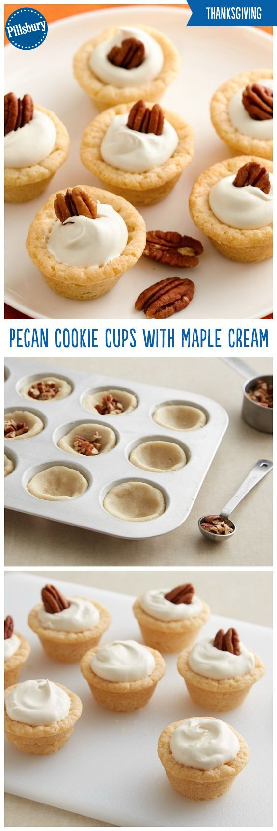 These cookie cups are the perfect shareable treat this holiday season! These Pecan Cookie Cups with Maple Cream are delicious sugar cookies loaded with maple flavor and topped with pecans. They're guaranteed to be a hit at your holiday parties and cookie exchanges.