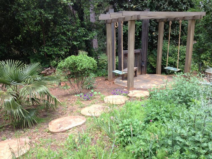 Adult swingset | Backyard, Backyard gazebo, Backyard play