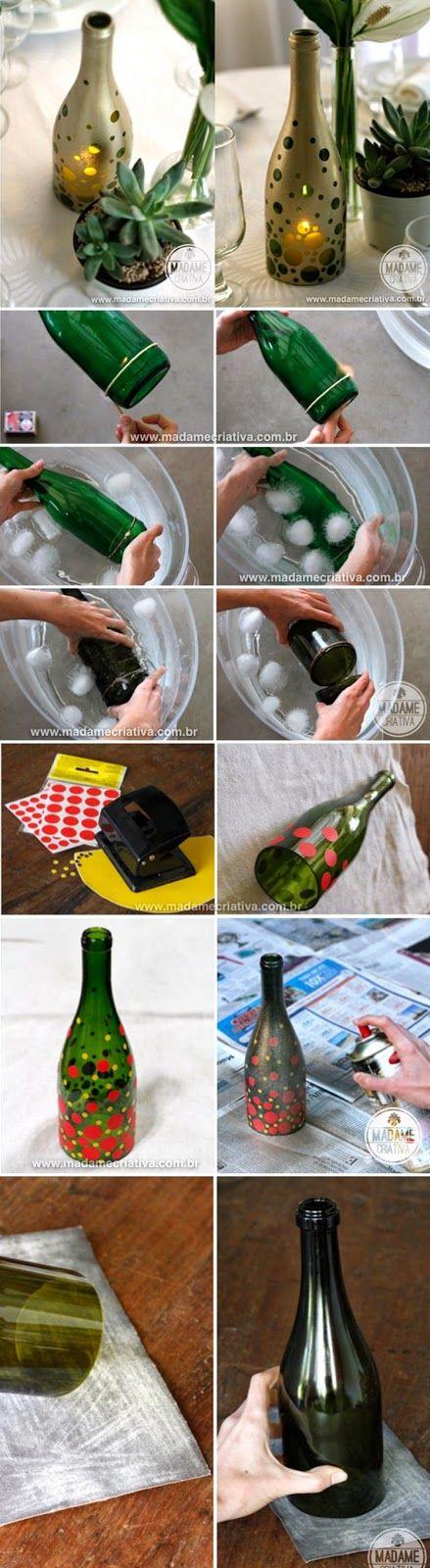 Relasé: Riciclare le bottiglie in vetro per creare portacandele