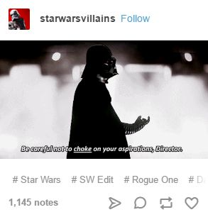 I knew this was going to be a quotable Vader moment and OH MY GOD IT'S AMAZING