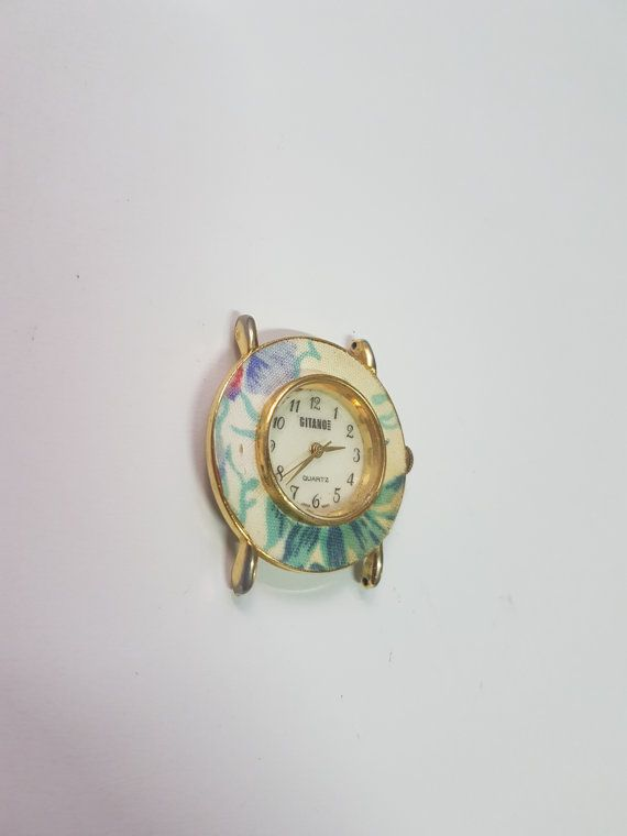 Gitano Special Floral Watch - Retro Looking Watch - Quartz Movement - Working Watch, Floral Watch, Ladies Watch, Mens Watch, Analog   Great Floral Watch Model!    Swatch Collection : https://www.etsy.com/shop/InstaAntiques?ref=l2-shopheader-name&section_id=20319988    All watches exposed are part of a big collection. I will keep on adding until I reach 1000 watches on Etsy! My father and grandfather have collected watches for almost 80 years! This means there...