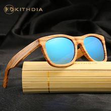 KITHDIA Real Superior Cebra Madera Hechos A Mano de Bambú De Madera gafas de Sol Polarizadas gafas de Sol Para Hombre gafas de Sol de Los Hombres Gafas Gafas De Sol De Madera