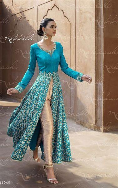 Charming Aqua Blue Wedding Designer Salwar Kameez