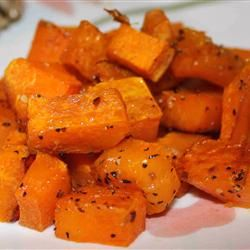 "Simple Roasted Butternut Squash | ""Peeling tip: Before peeling, wash and poke holes in the squash, then put it in the microwave for 3 minutes."""