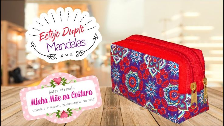 Estojo Duplo Mandalas | Comemoração de 1 ano | Minha Mãe na Costura