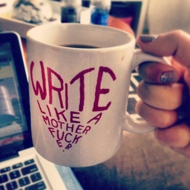 Exceptional For The Writer Who Needs Inspiration. Badass Writer Mug