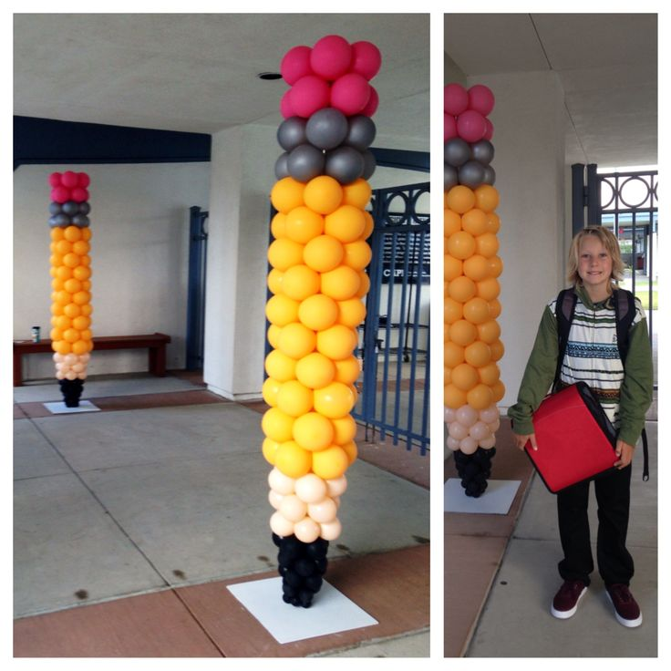 Pencil balloon display for exhibit booth
