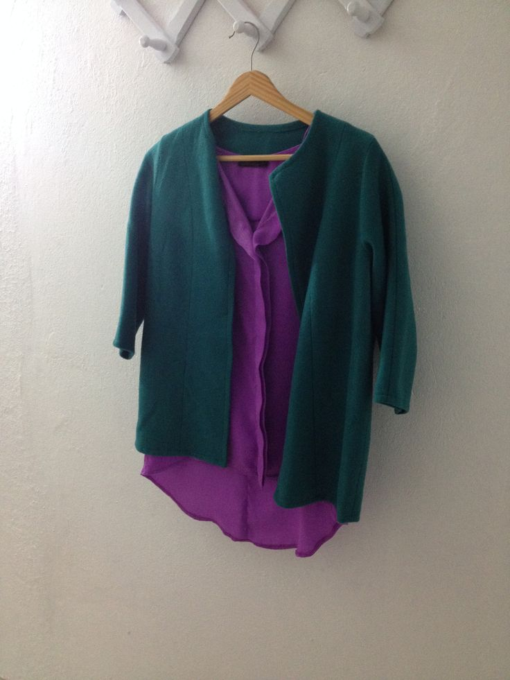 2015 sezonuna hazırlanan ürünler  ı made all of them  jacket with purple tshirt  das jackett :)