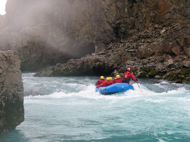 3. Rafting:  Rafting and white water rafting are recreational outdoor activities which use an inflatable raft to navigate a river or other body of water. The challenge of avoiding various rapids along the river paths while going along or against the current raises the level of thrill and excitement.