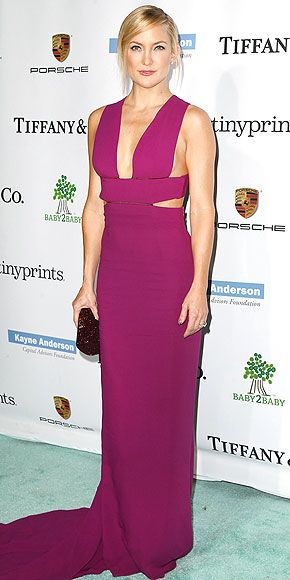 Kate Hudson wearing a Stella McCartney dress.  One word:  the color is to die for