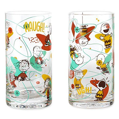 Hallmark PAJ1156 Charlie Brown and Linus Set of 2 Glasses @ niftywarehouse.com #NiftyWarehouse #Peanuts #CharlieBrown #Comics #Gifts #Products