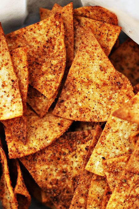 Inspired by Trader Joe's Spicy Soy and Flaxseed Tortilla Chips, this version only takes a few minutes to prepare and is one of those types of recipes kids should easily be able to assist you with. These chips are awesome!