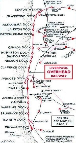 Liverpool Overhead Railway map