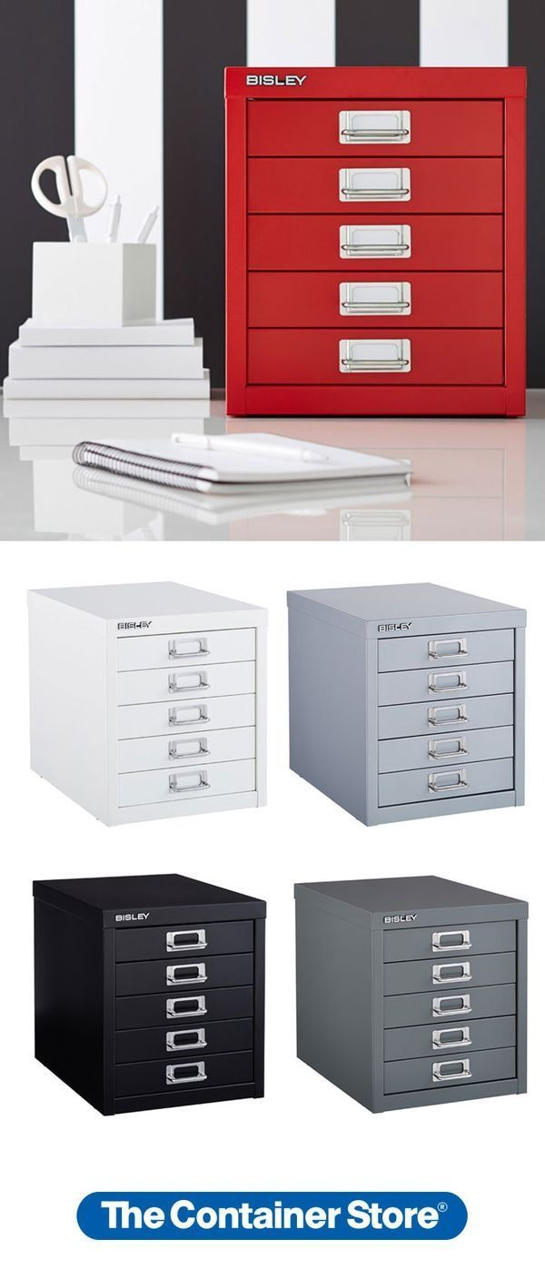 Add a pop of color to your desk or craftroom with our Bisley 5-Drawer Cabinet. It's the perfect size for organizing all kinds of little things. And no one carries the color selection we do.