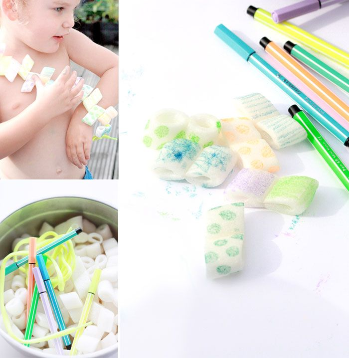 Foamchip-necklace_DIY- ketting maken van plastic verpakkingsmateriaal