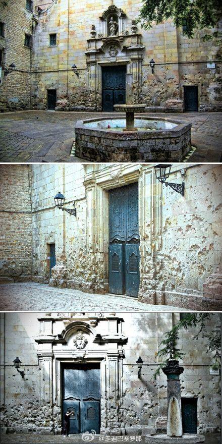Plaça de Sant Felip Neri, Barcelona, la història gravada a la pedra.
