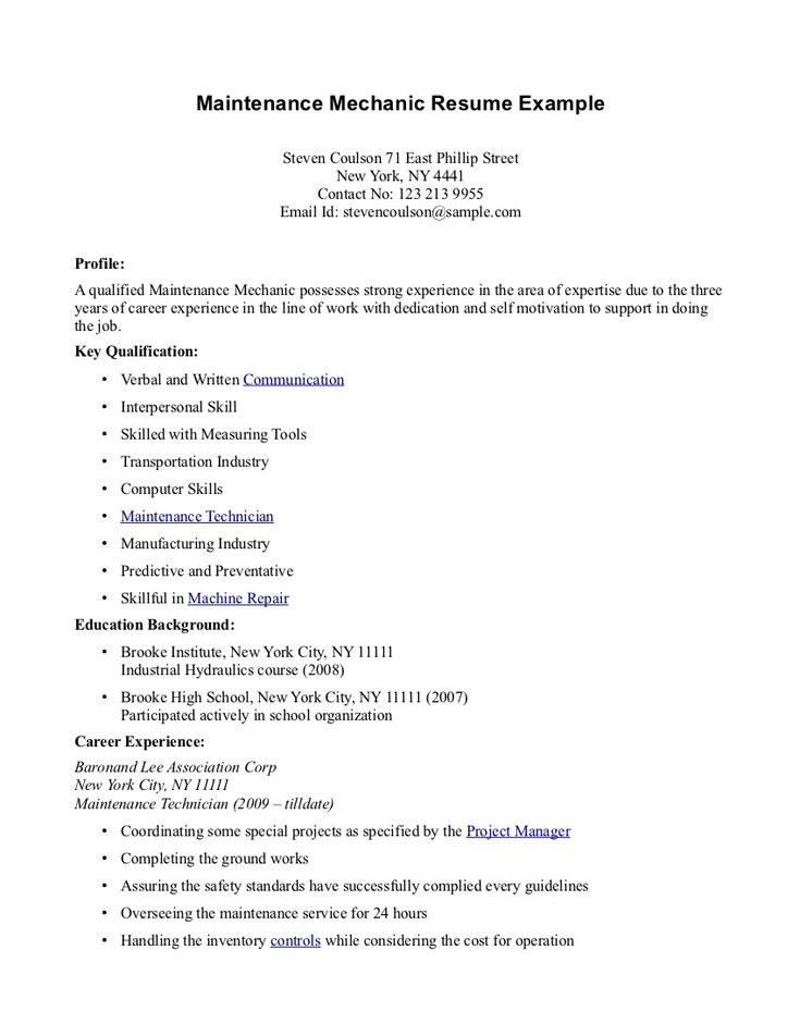 32 best Resume Example images on Pinterest Sample resume, Resume - resume for jobs with no experience