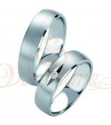 Βέρες γάμου από πλατίνα με διαμάντι Breuning 9054-9055