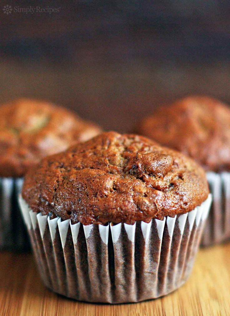 If time and waistline permitted, I could wake up every morning to these banana nut muffins! Banana nut muffin recipe with ripe bananas, nuts, sugar, egg, flour. from @simplyrecipes