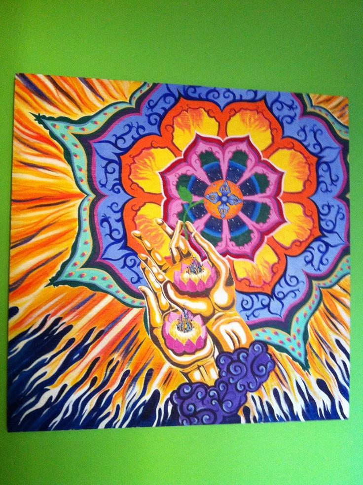 Dorje Mandala   Acrylic on plywood