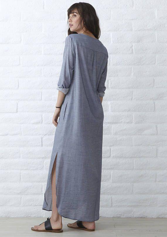 Caftán largo bohemio vestido vestido de boho túnica