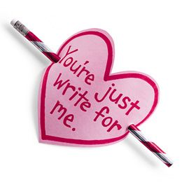 """you're just write for me"" valentine"