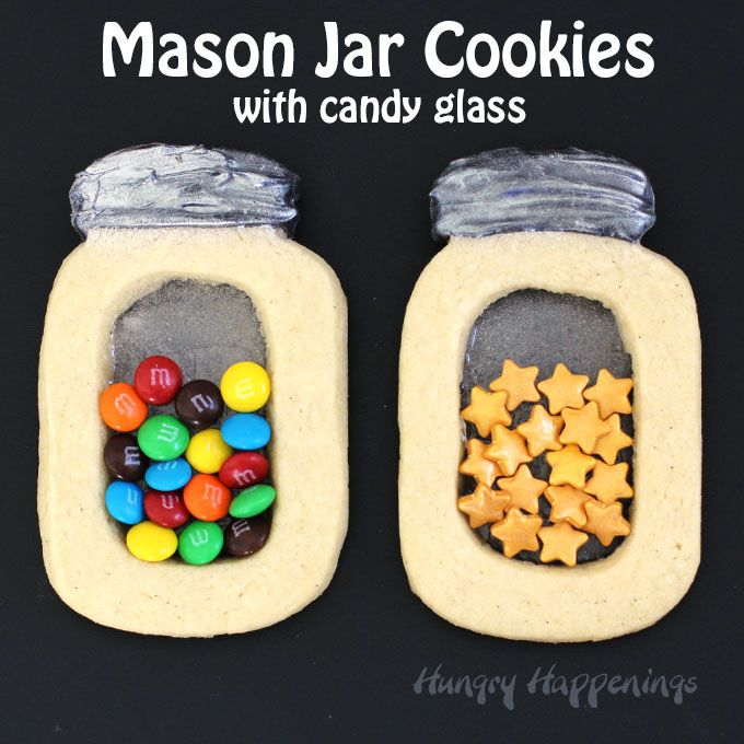 Fill your Mason Jar Cookies with Candy Glass with your favorite sprinkles or candies for any holiday or special occasion. These stained glass style cookies