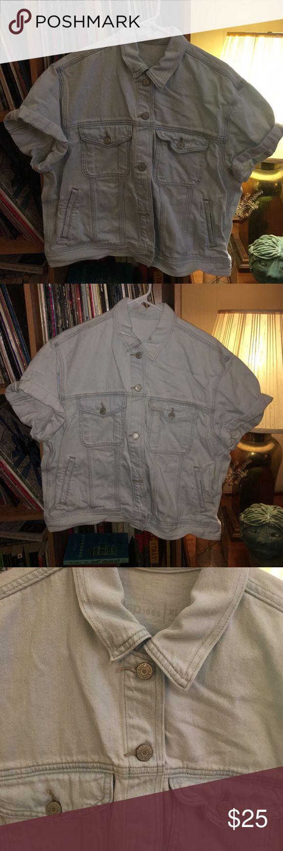 Gap Denim Short Sleeved Jean Jacket Very light wash Gap 1969 Denim. Great condition! GAP Jackets & Coats