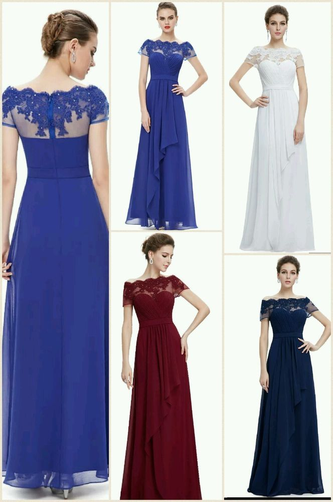 Formal Prom Evening Dress Long Gown Party Ball Cocktail Bridesmaid Chiffon Dress #unbranded #MaxiLongEveningGownPromCocktailDress #EveningFormalPartyBridesmaidDress