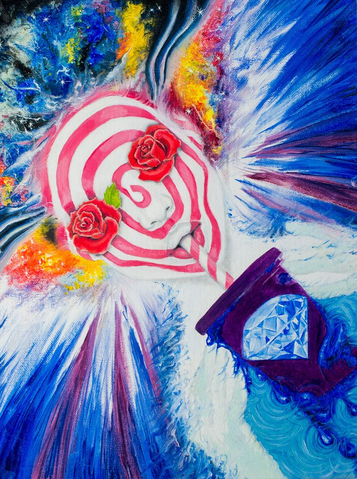 #рисунок #картина  #искусство  #art #painting #drawing #psycho #acid Painting by Yulia Malahova https://www.instagram.com/amita_art