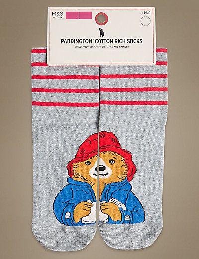 Paddington™ Cotton Rich Ankle High Socks | M&S