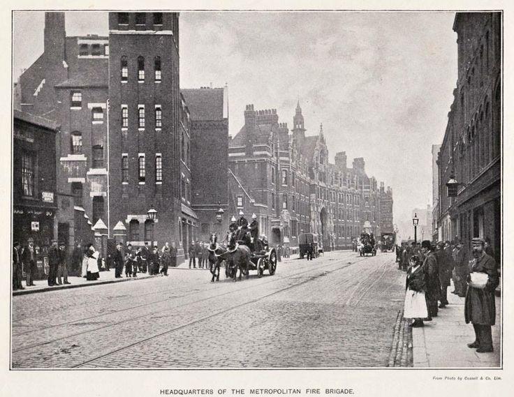 London Fire Brigade HQ, Southwark, 1890.