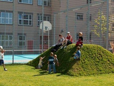 Playground Dirt Mound Add Tunnel Through And Slide Down