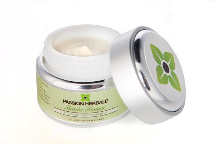 Crème visage régénératrice MENTHE TONIQUE, 35$