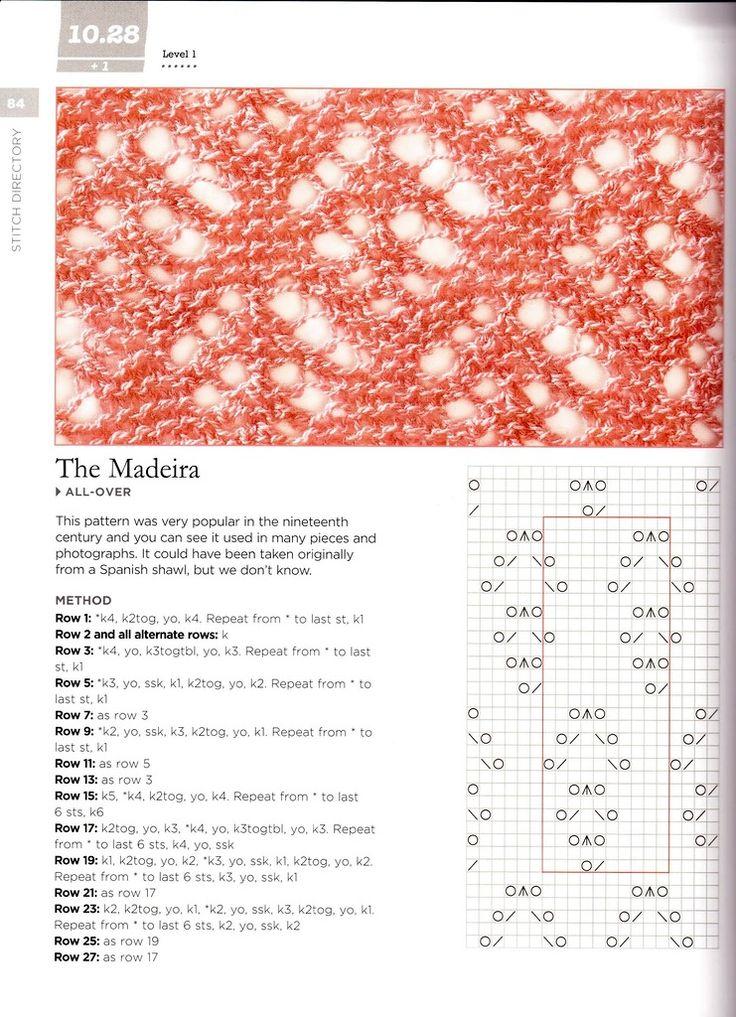 Madeira Lace Knitting Pattern : ??????.????? Lace stitch patterns, tutorials and ideas ...
