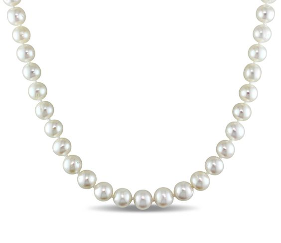 """$12.99 8-9mm White Freshwater Cultured Pearl Necklace, 18"""""""