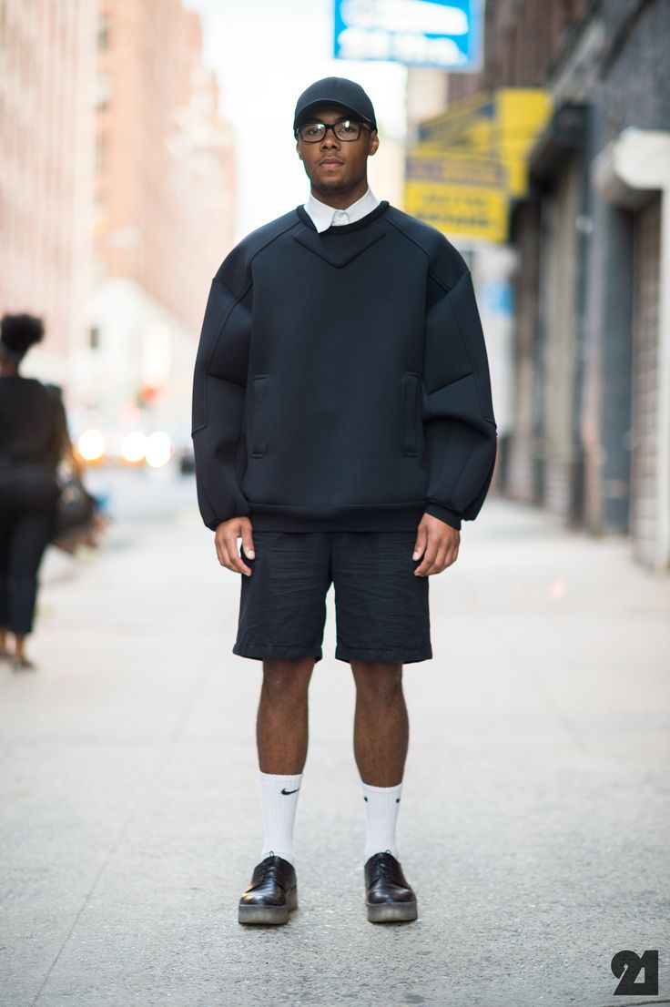 Street Style: Calvin Klein, Juun J, Nike, and Ralph Lauren help to make a casual chic look