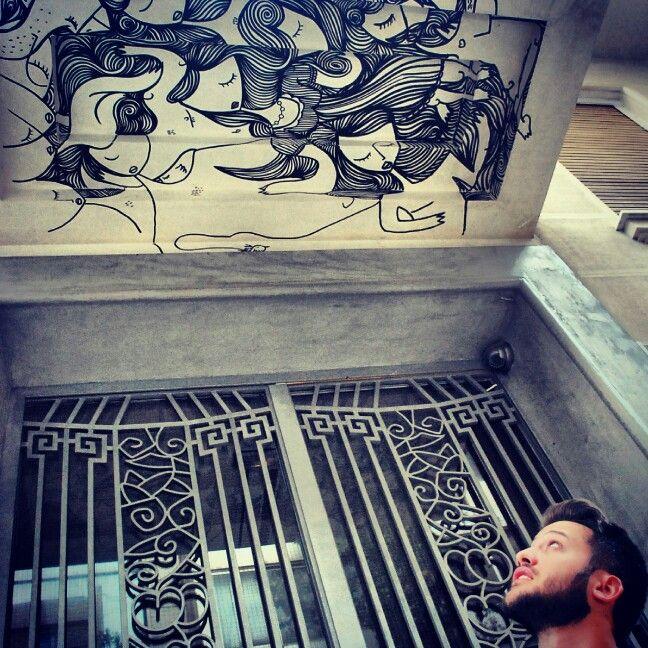 Sonke street art Exarchia Athens