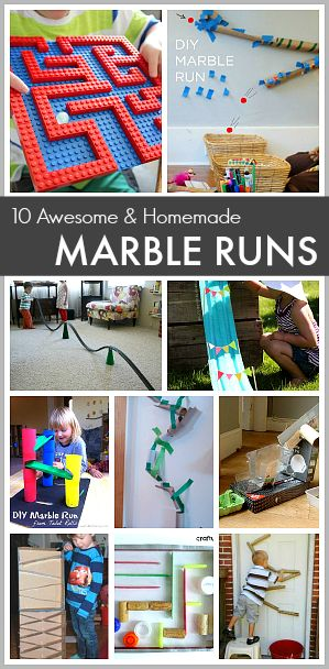 Perfect activity for summer to inspire all kinds of learning and fun! (10 Super Awesome Homemade Marble Runs)