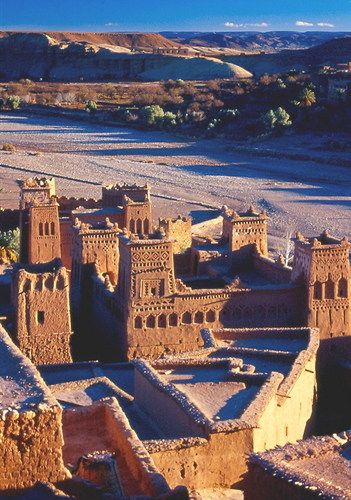 UNESCO World Heritage Site - Ksar of Ait-Ben-Haddou, Morocco.  Historical example of early 17th century architecture in the valleys of southern Morocco.