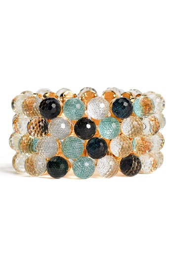 So pretty! Cara Accessories iridescent bauble stretch bracelet from Nordstrom.