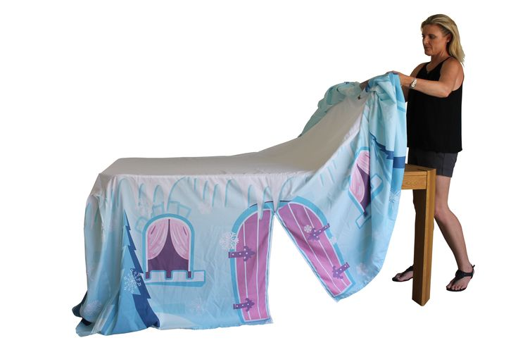 My Cotton Cubby...Simpy throw the cubby over a table and let the fun begin.  Frozen Cubby www.mycotoncubby.com.au