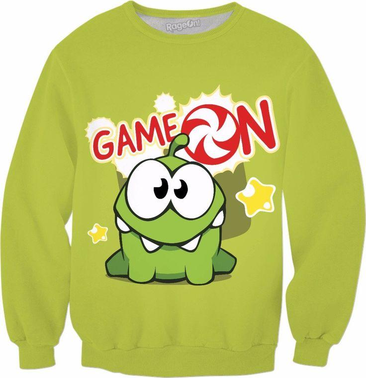 Om Nom Game On Crewneck Sweatshirt