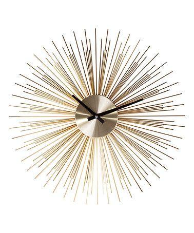 Look what I found on #zulily! Gold Sunburst Clock #zulilyfinds